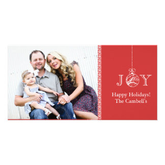 JOY Holiday Photocard Personalized Photo Card