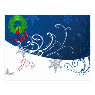 Joy Holiday Post Card Postcard