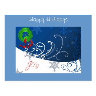 Joy Holiday Post Card Post Cards