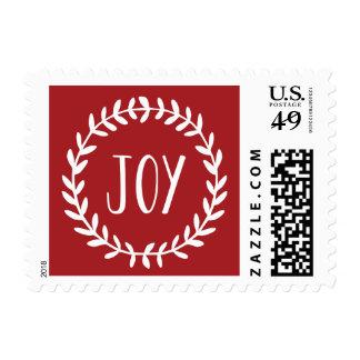 Joy | Holiday Postage Stamp