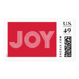 JOY | Holiday Red Postage