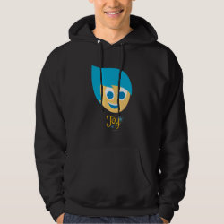Men's Basic Hooded Sweatshirt with Cute Cartoon Joy from Inside Out design