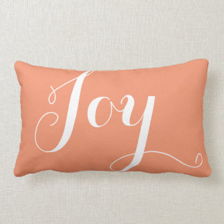 """""""Joy"""",""""Hope"""" Christmas and New Year Coral Throw Pillow"""