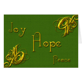 Joy Hope Peace Card