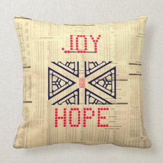 JOY, HOPE, PEACE, LOVE THROW PILLOW