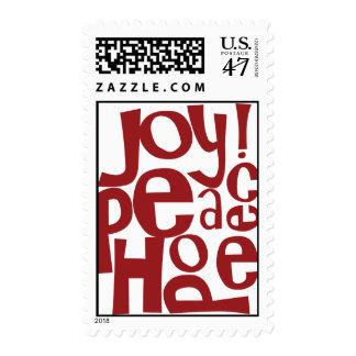 Joy! Hope Peace Postage