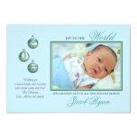 Joy in Blue Holiday Photo Card Custom Invite