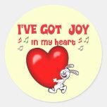 Joy in My Heart Round Stickers