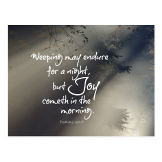 Joy in the Morning Bible Verse Postcard