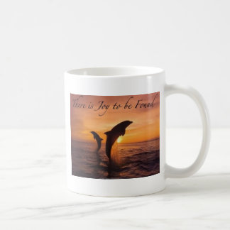 joy in the world of dolphins coffee mug