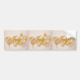 Joy inspire to bliss on vintage textile bumper stickers