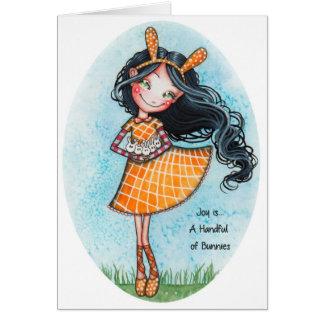 Joy is... A Handful of Bunnies Card
