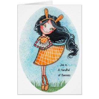 Joy is... A Handful of Bunnies Greeting Card