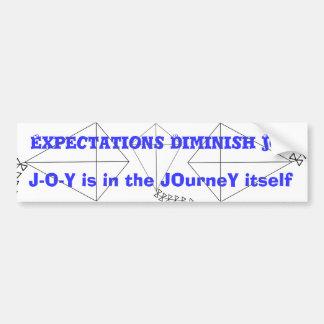 JOY is in the JOurneY Bumper Sticker
