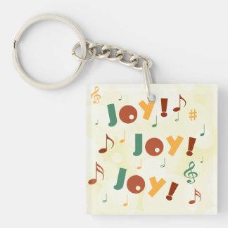 Joy! Joy! Joy! Double-Sided Square Acrylic Keychain