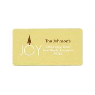 Joy Address Label