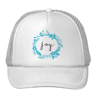 Joy | Laurel Wreath | Turquoise wreath Trucker Hat