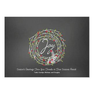 Joy Laurel Wreath With Berries Corporate Card