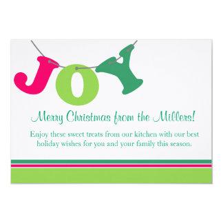 Joy Letter Banner 5x7 Paper Invitation Card