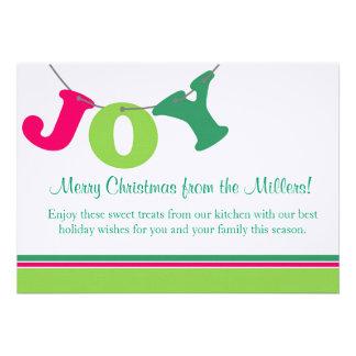 Joy Letter Banner Personalized Announcements