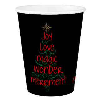 Joy • Love • Magic • Wonder • Merriment Paper Cup
