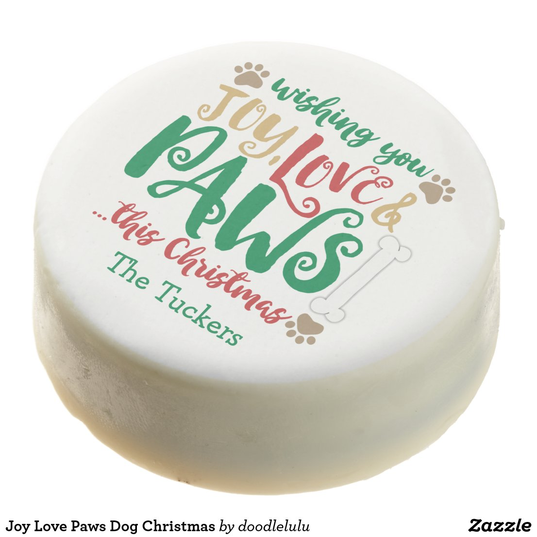 Joy Love Paws Dog Christmas Chocolate Covered Oreo