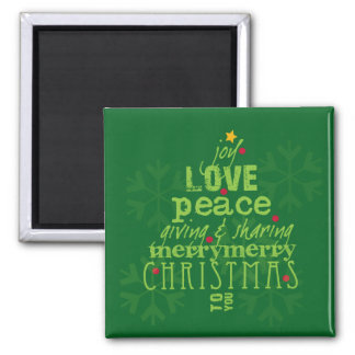 Joy, Love, Peace Christmas Magnet