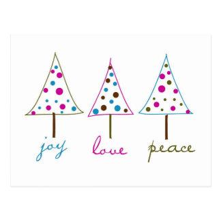 Joy, Love, Peace Holiday Postcard