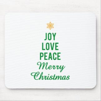 Joy, Love, Peace, Merry Christmas Mouse Pad