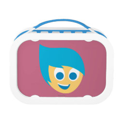 Blue yubo Lunch Box with Cute Cartoon Joy from Inside Out design