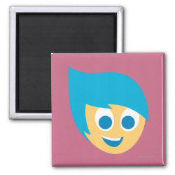 Square Magnet with Cute Cartoon Joy from Inside Out design