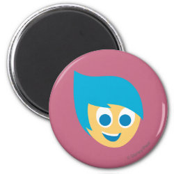 Round Magnet with Cute Cartoon Joy from Inside Out design