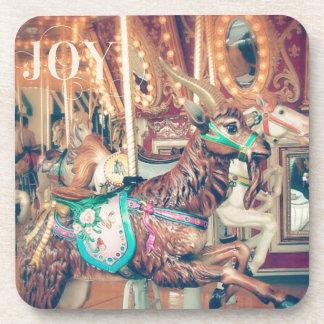Joy Merry Goat Beverage Coaster