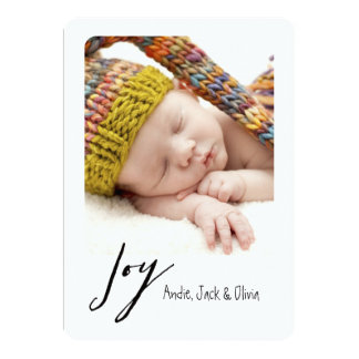 Joy Modern Holiday Card
