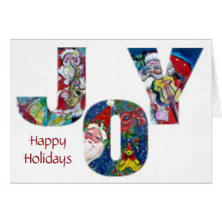 JOY MUSICAL SANTA CHRISTMAS GREETINGS GREETING CARD