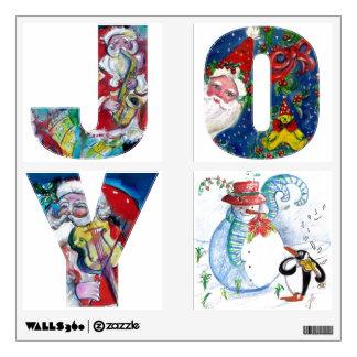 JOY MUSICAL SANTA  XMAS PARTY ,PENGUIN'S SERENADE WALL STICKER
