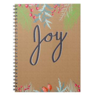 Joy Natured Themed Spiral Spiral Notebook