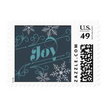 Joy - Navy Blue & Teal Postage
