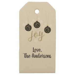 Non denominational holiday craft supplies zazzle joy non denominational holiday greeting wooden gift tags m4hsunfo