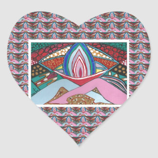 JOY  OF BEING TOGETHER : Artistic Romantic Sensual Heart Sticker
