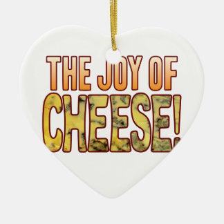 Joy Of Blue Cheese Ceramic Ornament