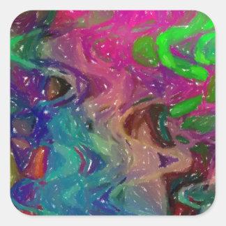 Joy of Colours Impressionism Square Sticker