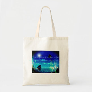 Joy of Dolphin famous quote budget recycle bag