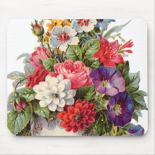 Joy of flowers mouse pad