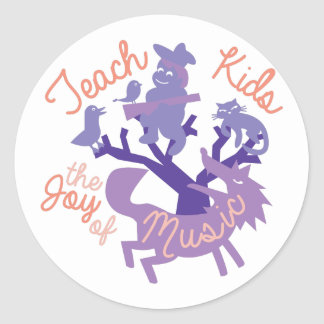 Joy Of Music Classic Round Sticker