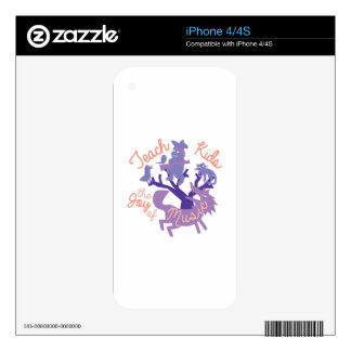 Joy Of Music Decal For iPhone 4