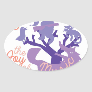 Joy Of Music Oval Sticker