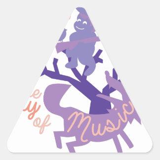 Joy Of Music Triangle Sticker