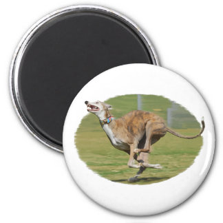 Joy of Running in Grass Oval 2 Inch Round Magnet