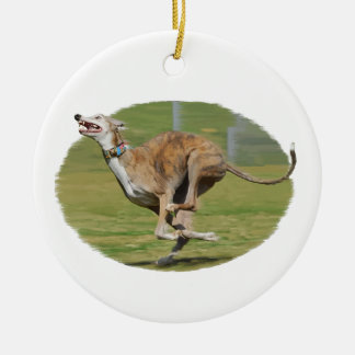 Joy of Running in Grass Oval Ornaments
